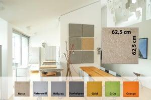 HANF Akustikplatte für Wand und Decke