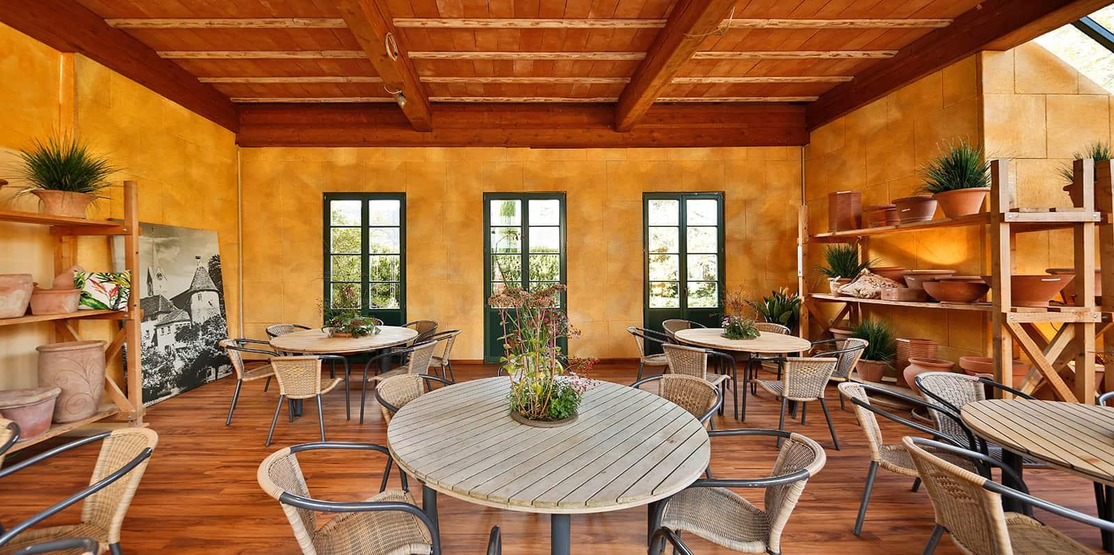 Gärtnerei-Café Siegwarth: Schalldämmung in der Gastronomie