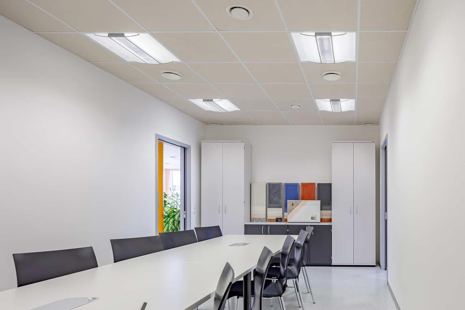 Schallschutz im Büro: Besprechungsraum Fa. Synthesa
