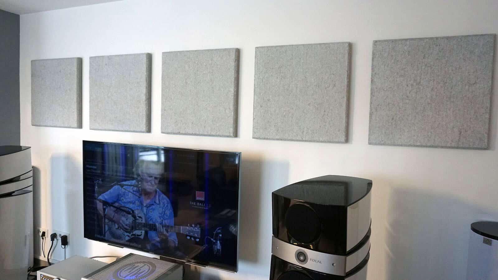 Raumakustik verbessern für eine HiFi-Anlage im Wohnzimmer