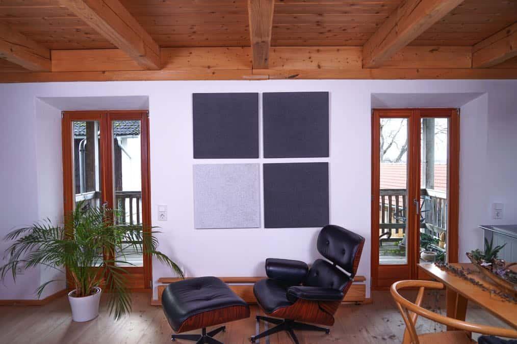 Naturweiß Dunkelgrau Dunkelgrau Heradesign Superfine Akustikplatte SilentFiber