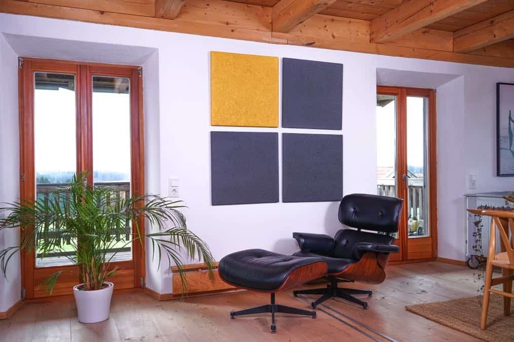 Gold Dunkelgrau Heradesign Superfine Akustikplatte SilentFiber