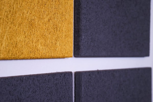 Gold Dunkelgrau Heradesign Superfine Akustikplatte SilentFiber Wand