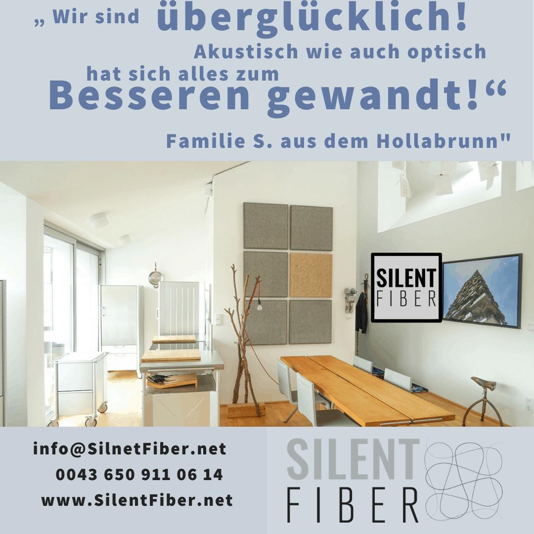 Read more about the article LOB für SilentFiber Akustikplatten