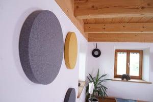 STOFF Akustikplatte rund
