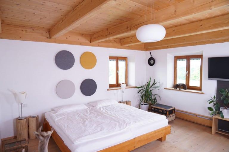 Gute Akustik auch im Schlafzimmer