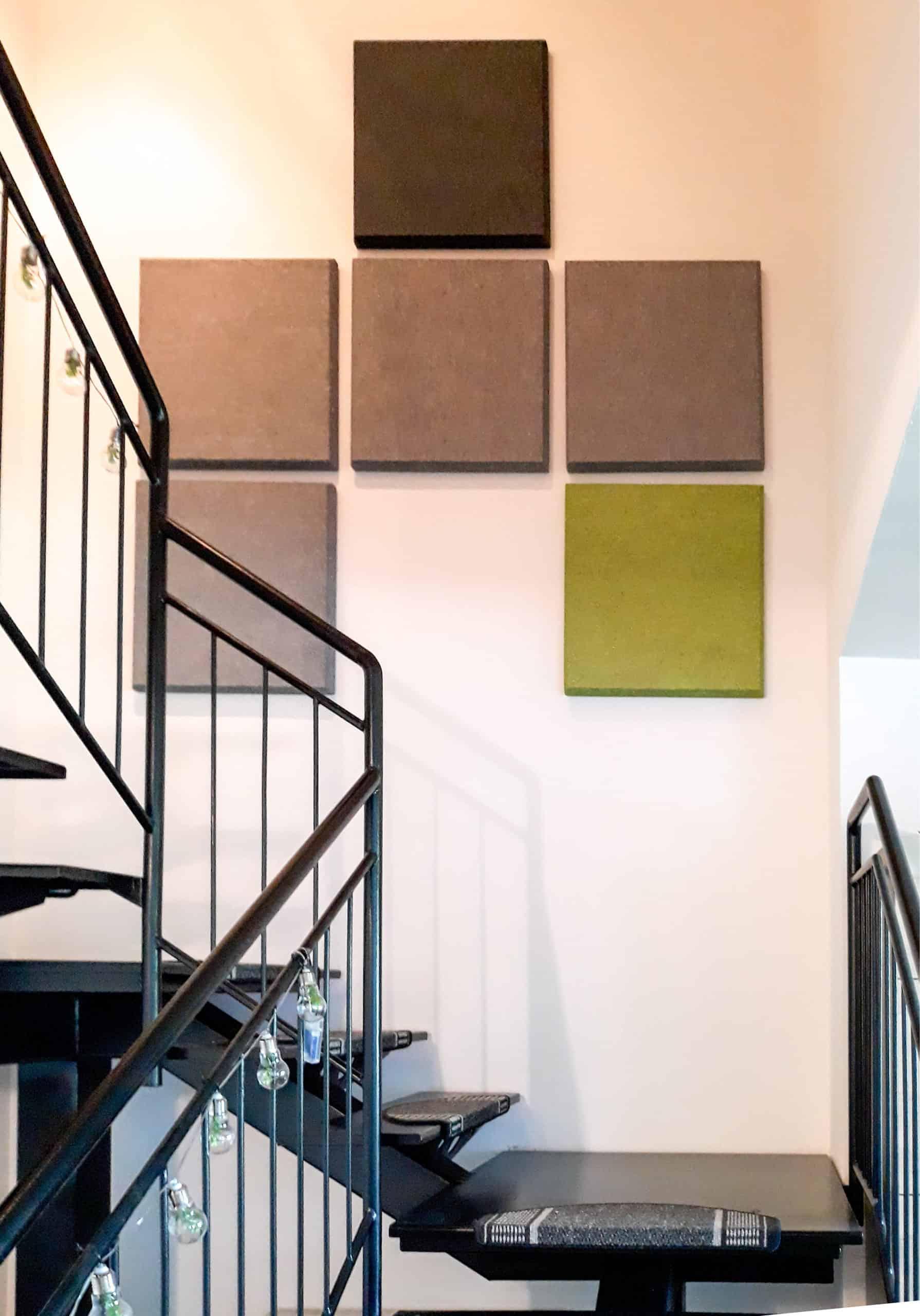 Akustik verbessern in der Wohnküche mit offenem Treppenhaus