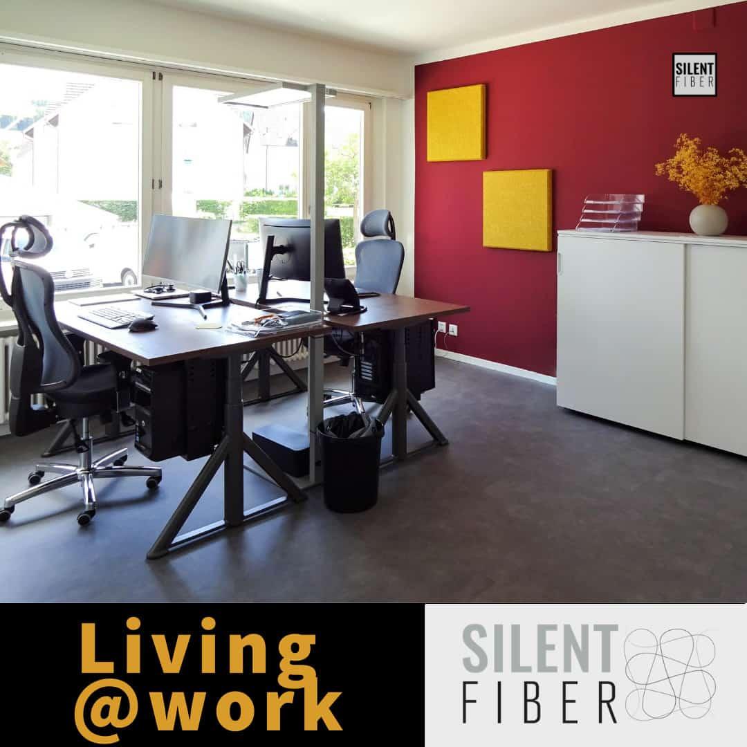 Living @work modernes Büro mit homeoffice Atmosphäre