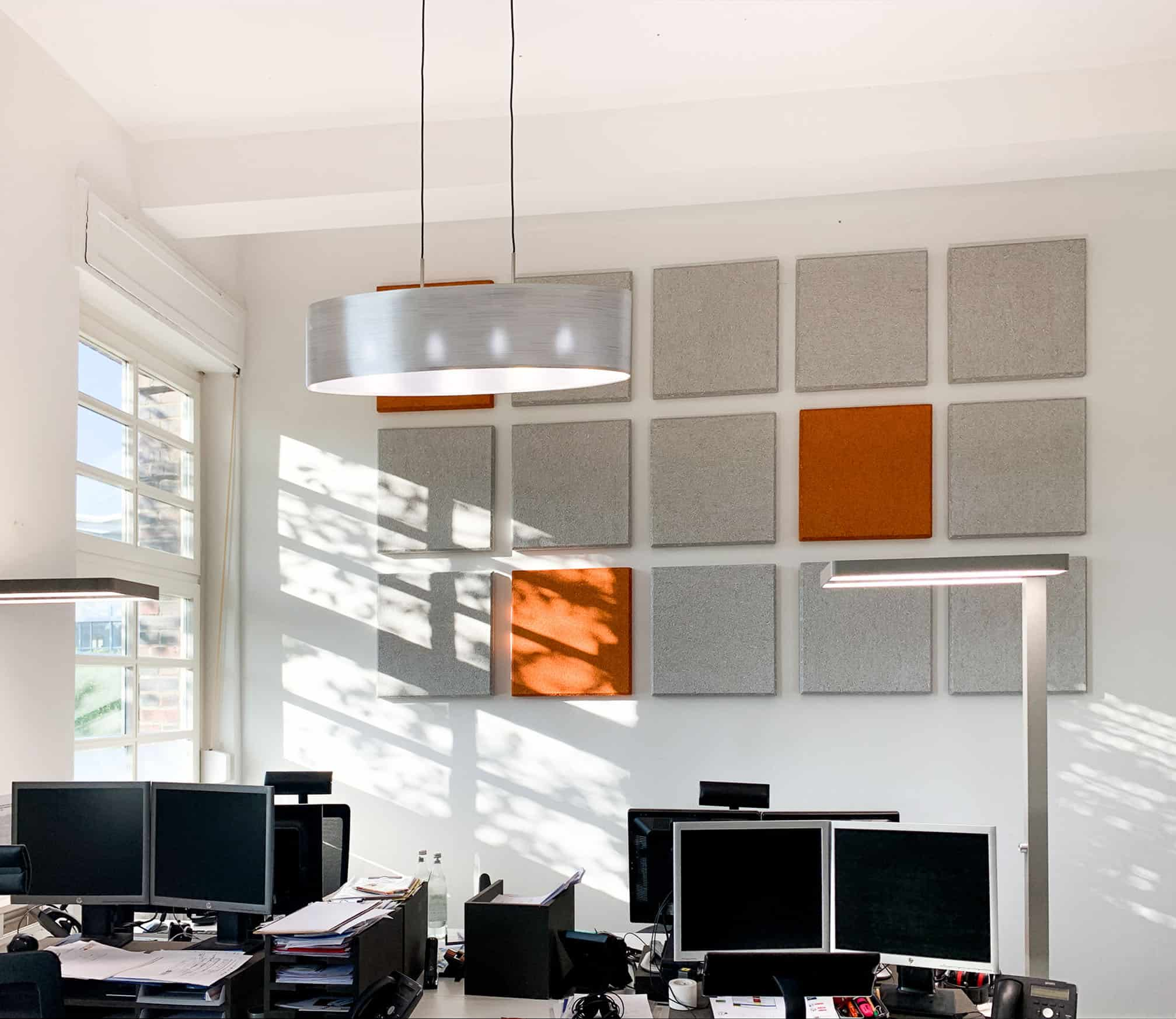 Akustik verbessern im Loft-Büro in Darmstadt