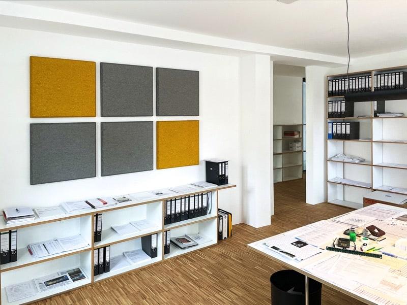 Akustik im Architekturbüro Akustikplatten
