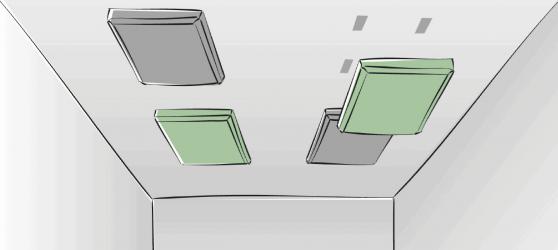 Einfache DIY Montage Akustikplatten Decke