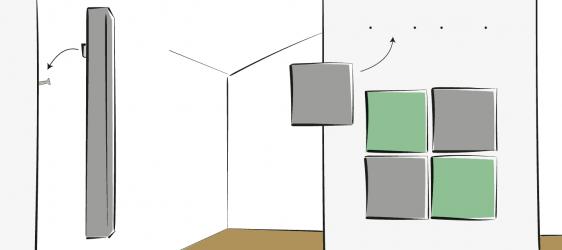 Einfache DIY Montage Akustikplatten